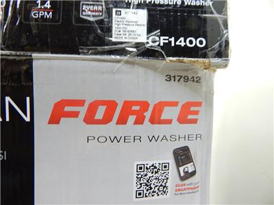 Clean Force Cf1400 1400psi 1 4gpm Power Washer Electric