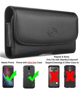 promo code db2b4 be35c Details about Belt Case Holster for BLU Phone Blu Studio Leather / Nylon  Rugged Carrying Pouch