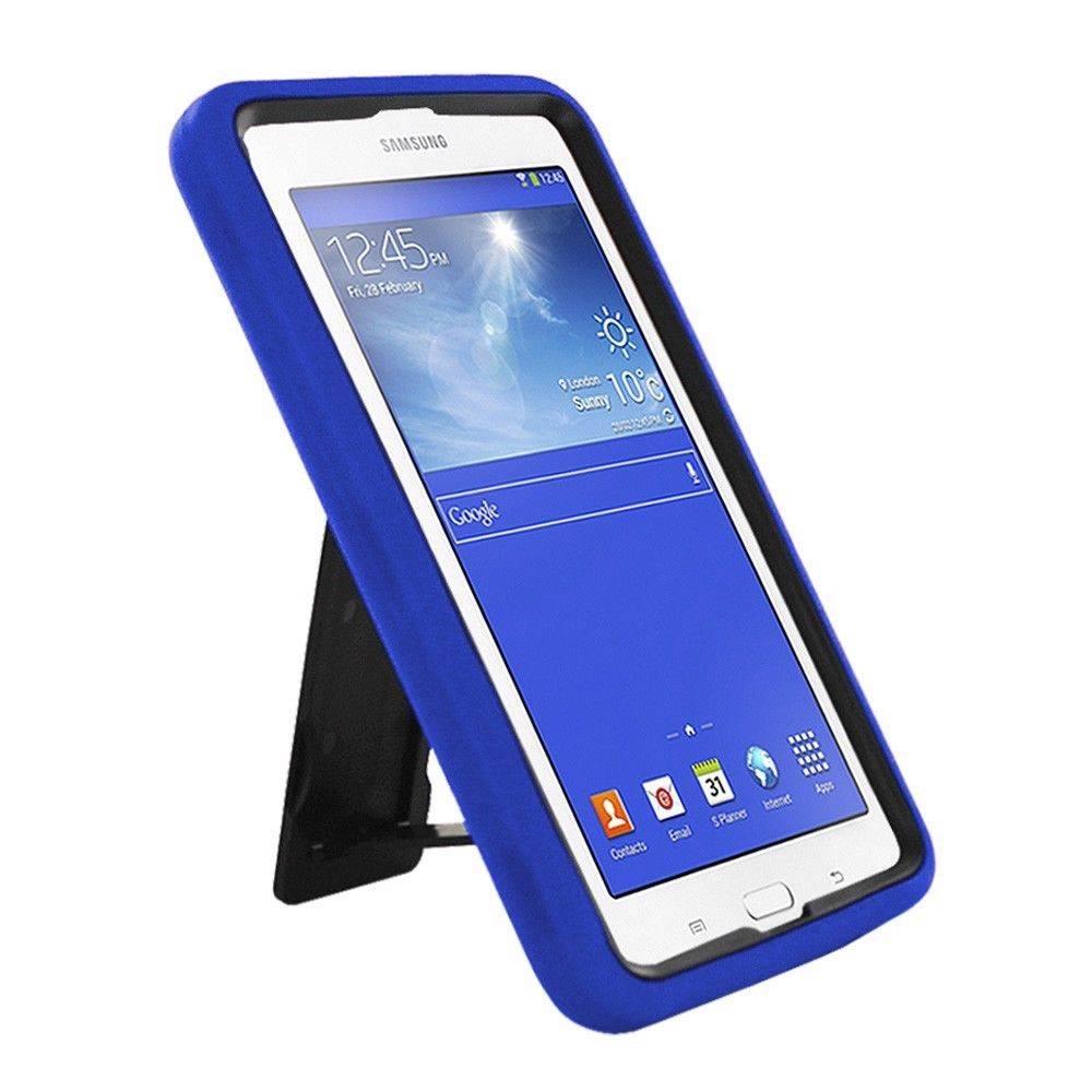 defender tough box stand shockproof rubber hybrid case cover for samsung tablet ebay. Black Bedroom Furniture Sets. Home Design Ideas