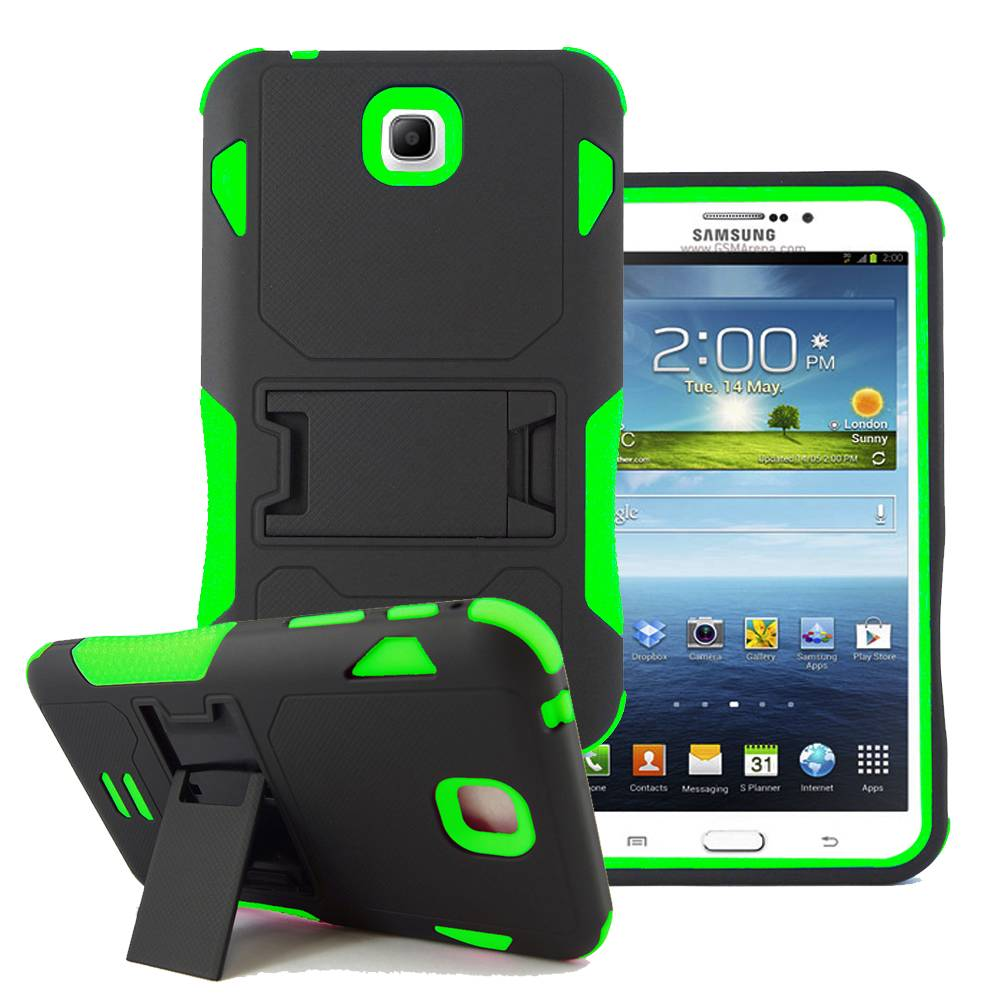 for samsung galaxy tab 3 7 0 7 tablet p3200 p3210 hybird stand box cover case ebay. Black Bedroom Furniture Sets. Home Design Ideas