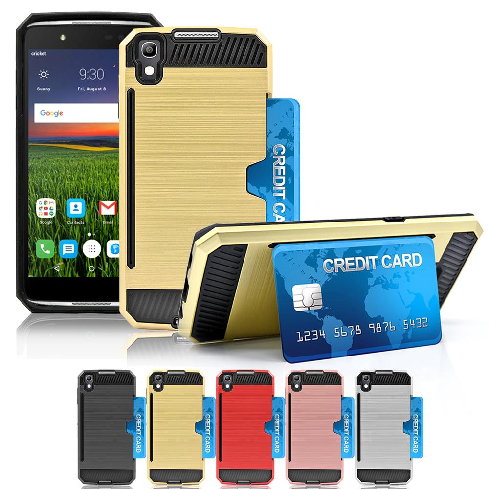 Details about Alcatel iDOL 4/Nitro 49/6055 Shockproof Armor Brushed Box  Case Card Slot Cover