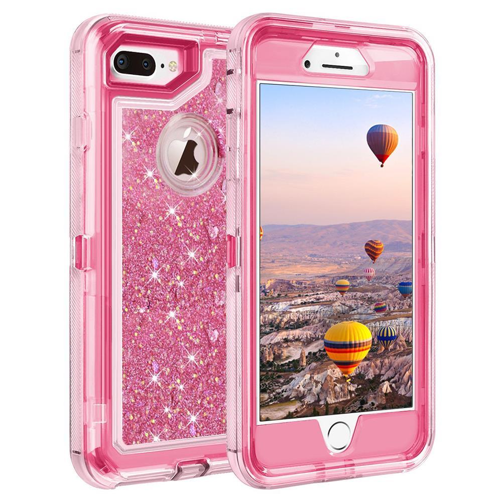 For Iphone X 8 7 Plus 6s Plus 6 Glitter Liquid Case Belt