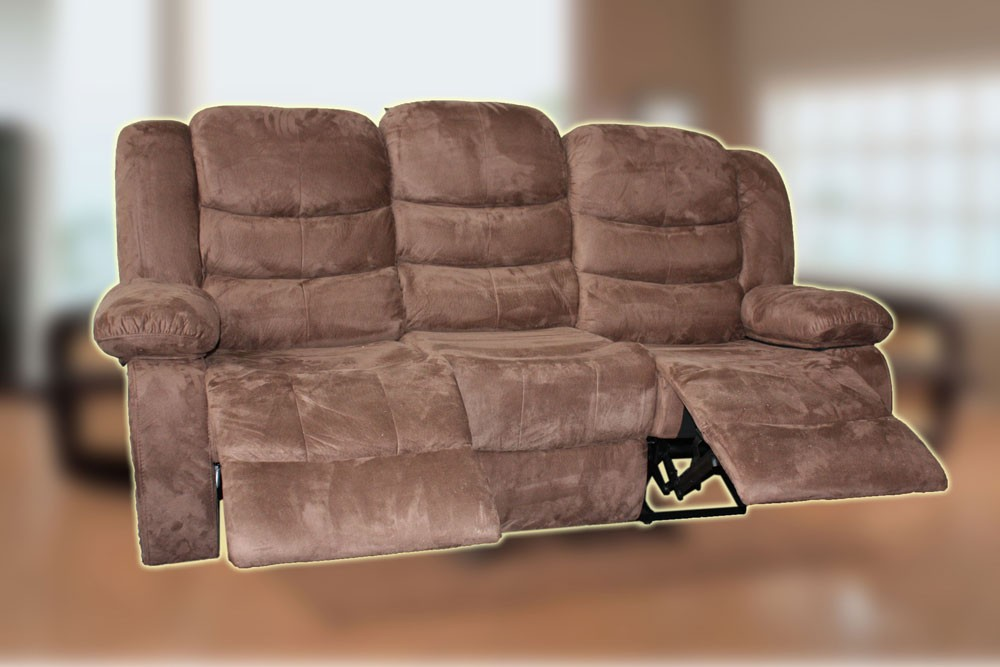 Recliner 3 Seater Entertainment Lounge Suite Chocolate