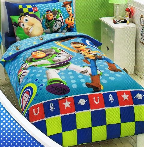 Disney Toy Story Bonus Score Buzz Woody Double Bed Quilt Duvet