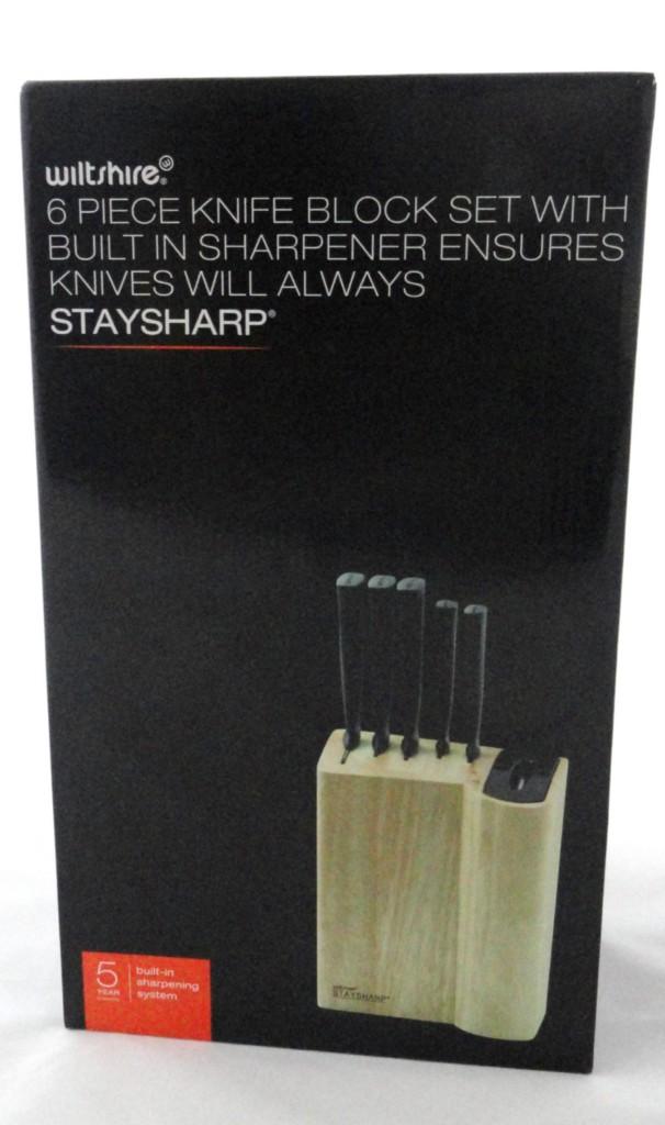Wiltshire Staysharp 6 Pce Knife Block Set Sharpener Ebay