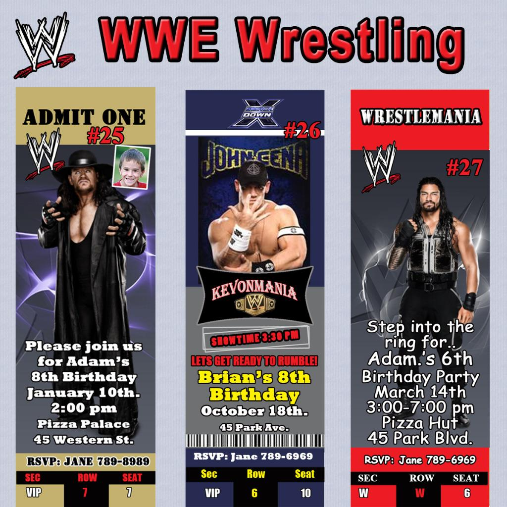 WWE Wrestling Birthday Invitations & More Personalized