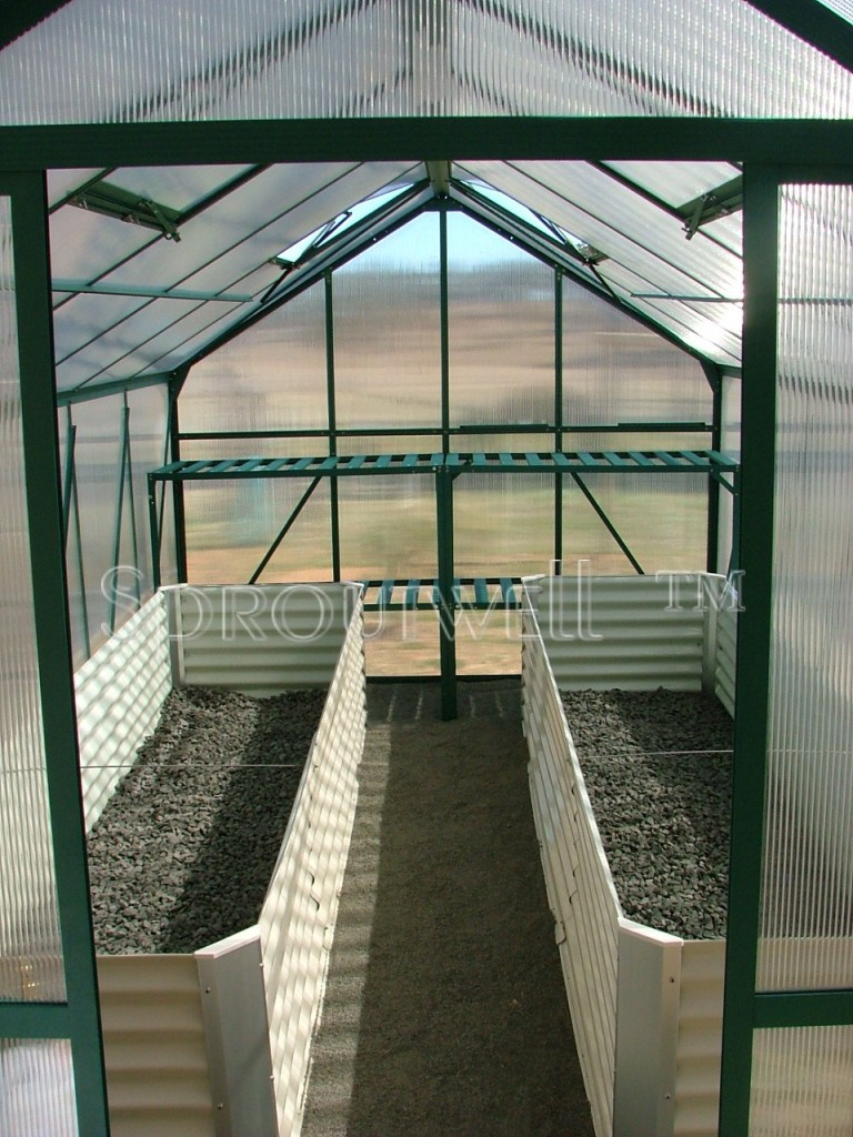 Cream Greenhouse Instant Veggie Herb Raised Planter Box