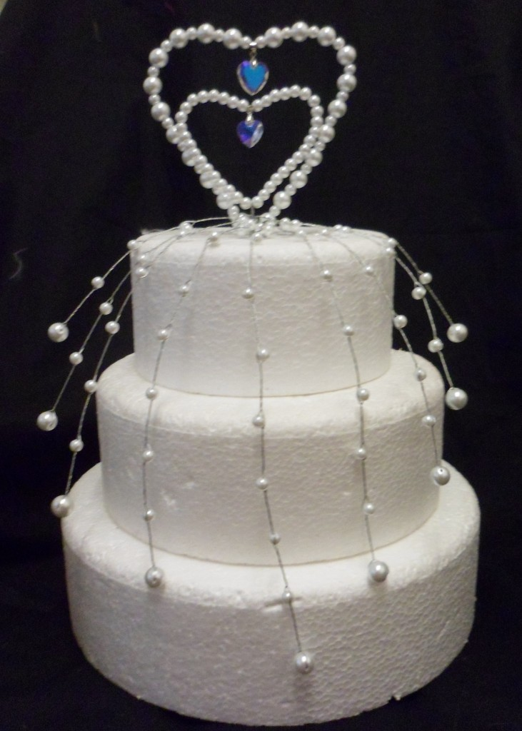 pearl heart wedding cake topper pearl dropper wedding 18164