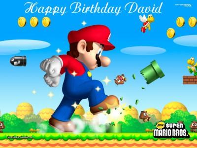 Super Mario Bros Edible Cake Image Topper 1 4 Sheet