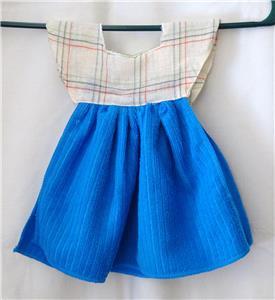 Details about HANDMADE 100% Poly Reversible Hanging Kitchen Oven Door Dish  Hand Towel Dress