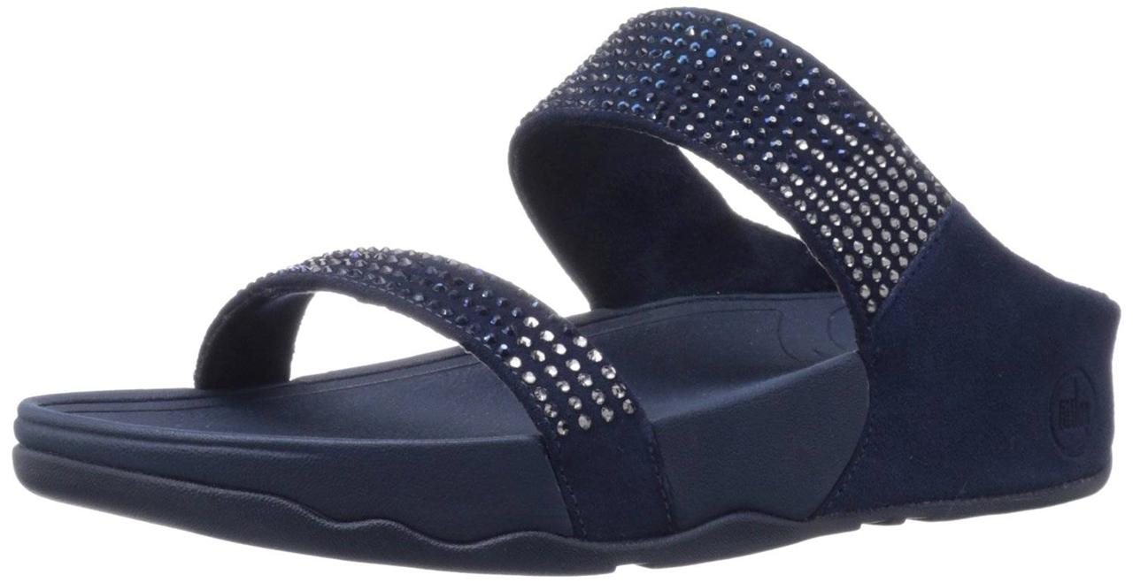 FitFlop Women's Sandals Rock Chic Fitness Flare Slide ...