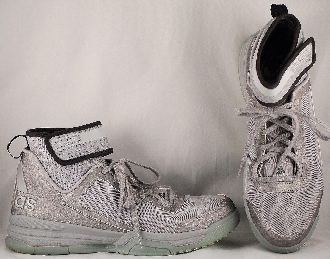 Men's Adidas Techfit Light Silver/Gray Basketball Shoes US 9.5 UK ...