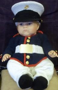 Baby Marine Corps Dress Uniform Blues Outfit Photo Prop