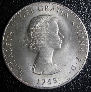 1965 elizabeth 2 churchill coin