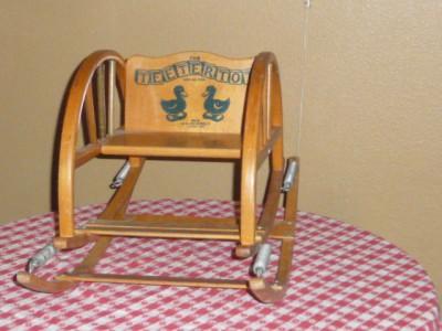 Vintage 1950 S Quot The Teetertot Quot Toddler Wood Bouncing
