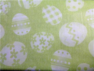 Easter Tablecloth Vinyl Flannel Back All Sizes Green Eggs