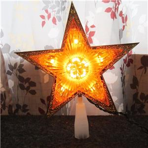 Light Up Gold Star Prismatic Christmas Tree Topper New Ebay