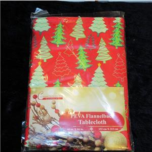 Christmas Trees Tablecloth Vinyl Flannel Back All Sizes