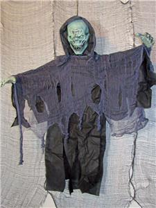 "48/"" Hanging Posable Rotting Zombie Reaper ~Halloween Yard Decoration~NEW"