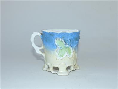 Antique Vintage Blue White Porcelain China Shaving Mug Mustache Cup Ebay