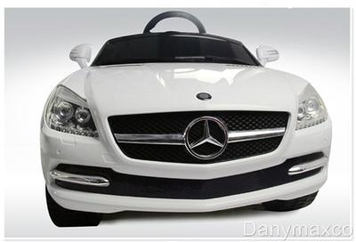Mercedes Benz SLK 81200 Baby Kids Ride on Power Wheels Toy Car White