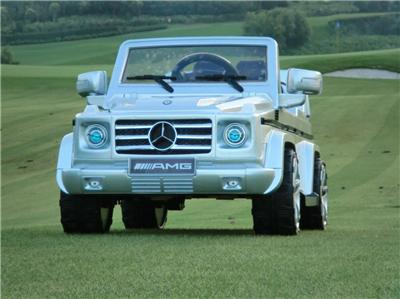 Licensed Mercedes Benz G55 AMG Kids Ride on Power Wheels Battery Toy Car Silver