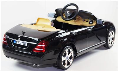 Licensed Mercedes s Class S600 Kids Ride on Power Wheels Battery Toy Car Black