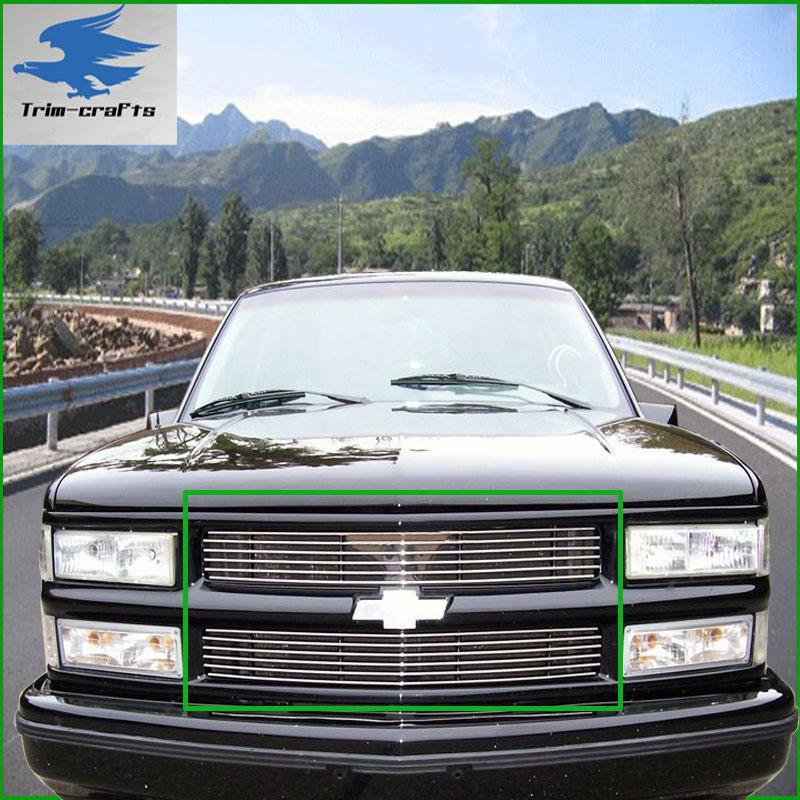 94 98 Chevy K1500 K2500 K3500 Tahoe Billet Grille 2PCS on