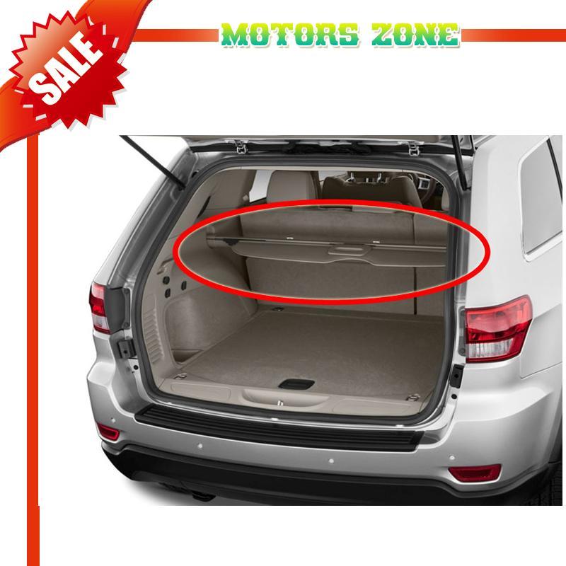 2011 2013 jeep grand cherokee rear trunk grey cargo shielding tonneau cover 12 ebay. Black Bedroom Furniture Sets. Home Design Ideas