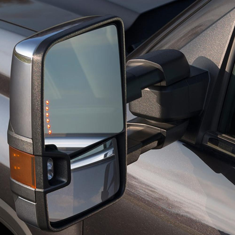 88 98 Chevy Gmc Yukon Tahoe Tow Mirrors Chrome Power Led