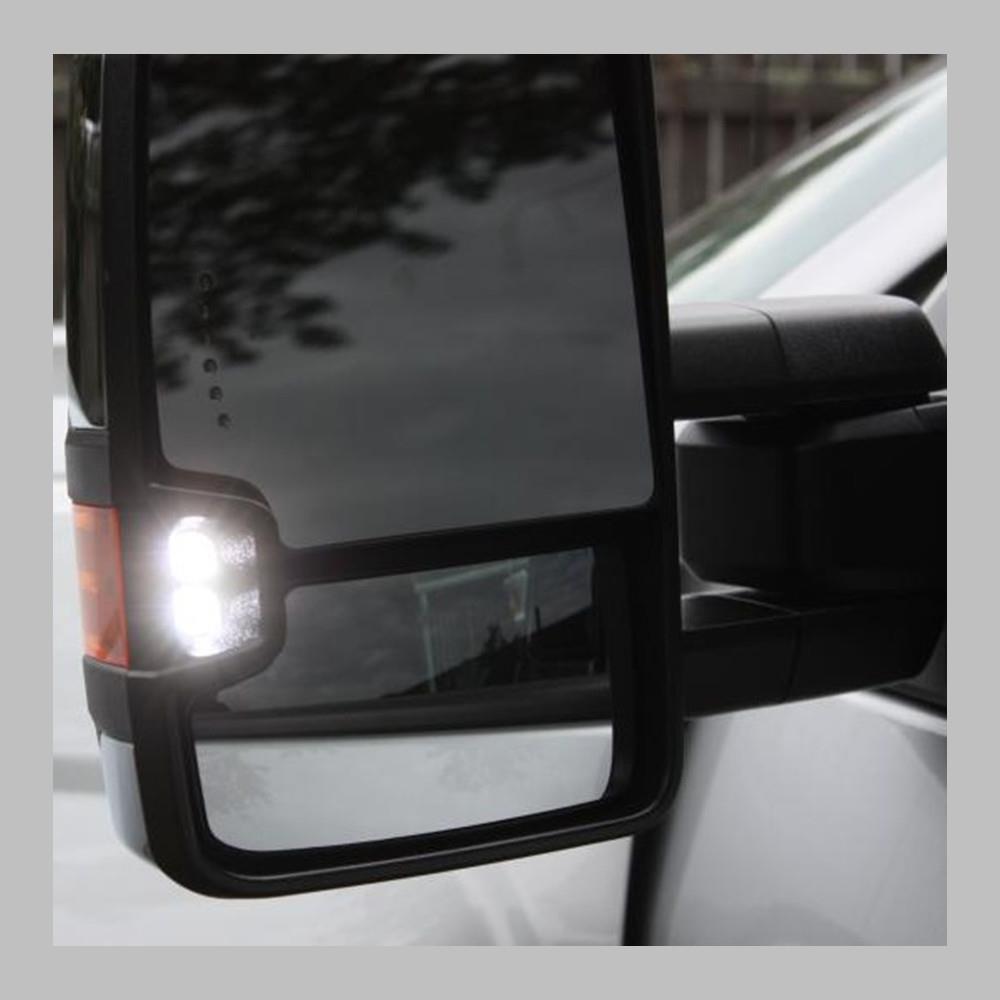 88 98 Chevy Gmc Yukon Tahoe Tow Mirrors Chrome Power Led