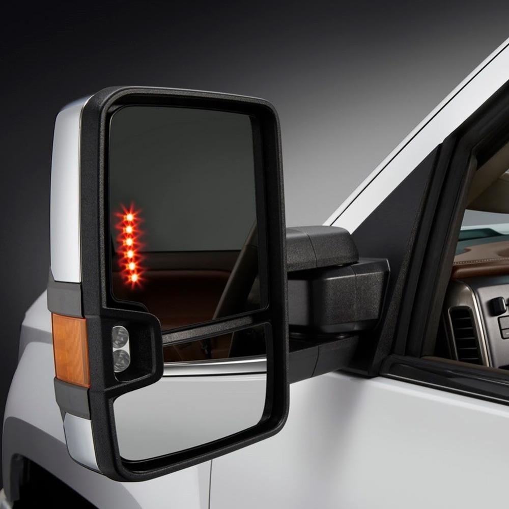 for 99 06 silverado sierra towing chrome mirrors turn. Black Bedroom Furniture Sets. Home Design Ideas