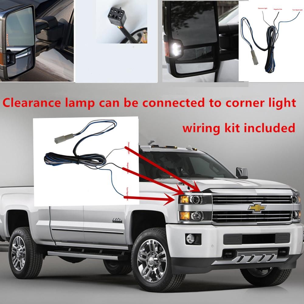 Chrome 99 02 Silverado Sierra Power Heated Towing Mirrors