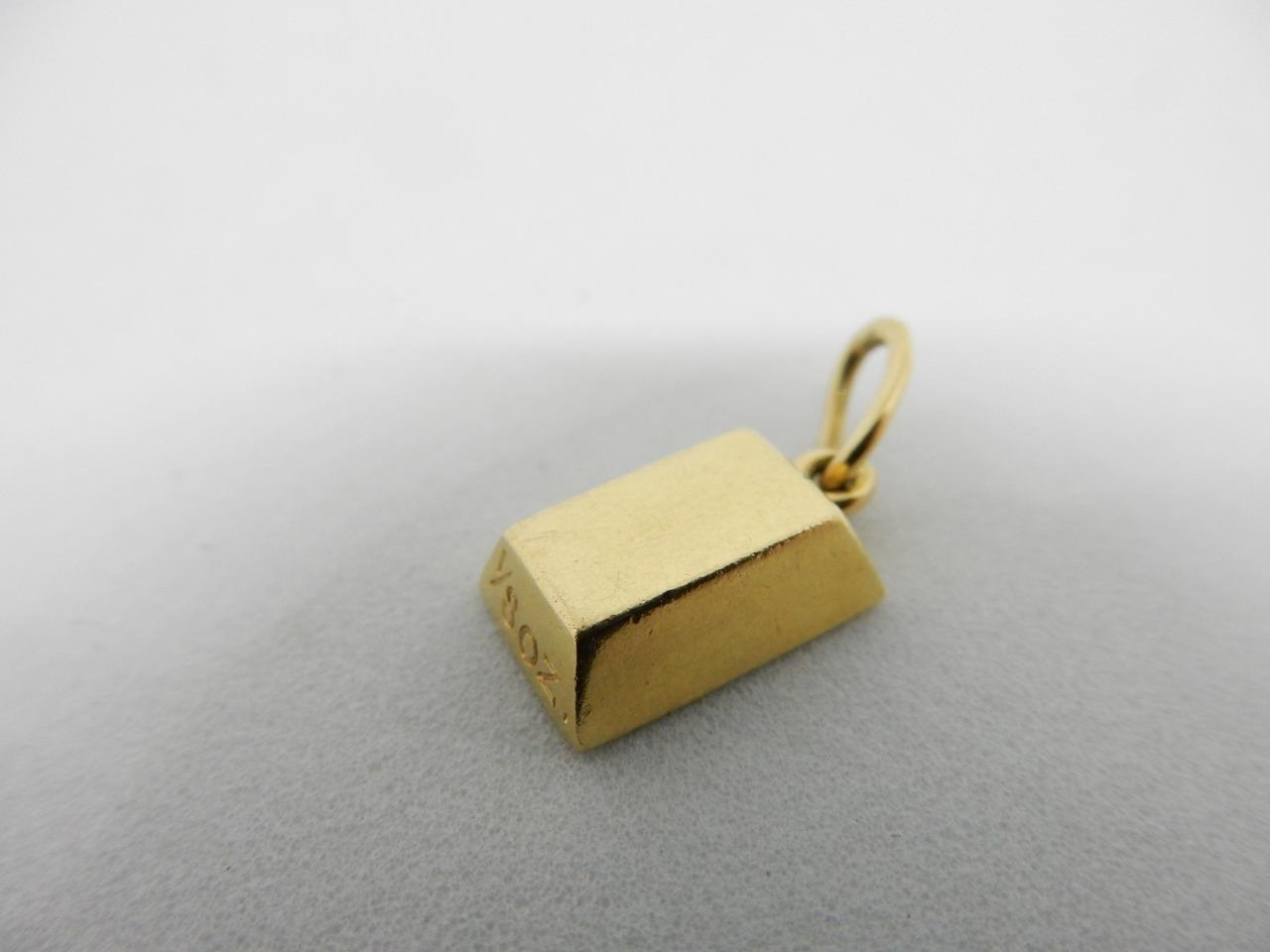 62adff1da68e1 Details about CARTIER 18 KT YELLOW GOLD, 1/8 OZ GOLD BAR PENDANT #W560
