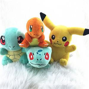 4pcs Pokemon Plush Toys Pikachu Bulbasaur Squirtle