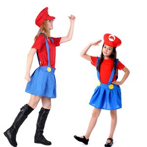 herren erwachsene kinder super mario und luigi bros kost m klempner halloween ebay. Black Bedroom Furniture Sets. Home Design Ideas