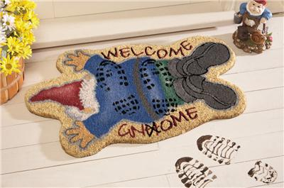 Trampled Gnome Welcome Doormat Door Mat Rug New Coir Fiber