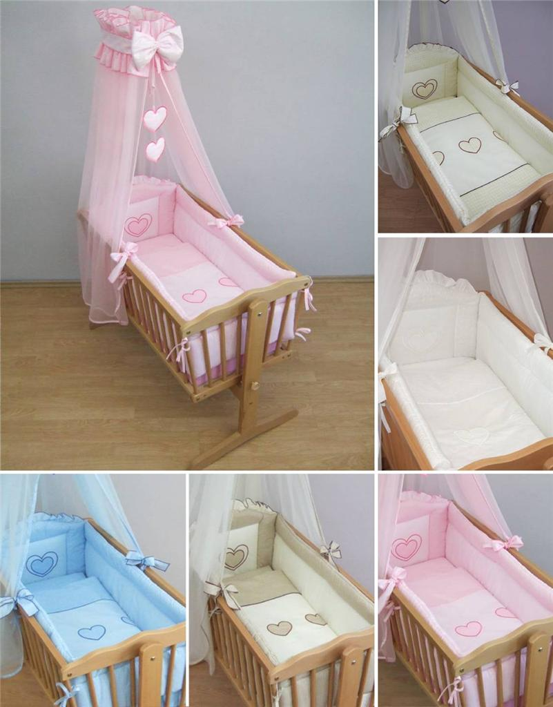 Nursery Crib Bedding Accessories Cradle Per Set Canopy