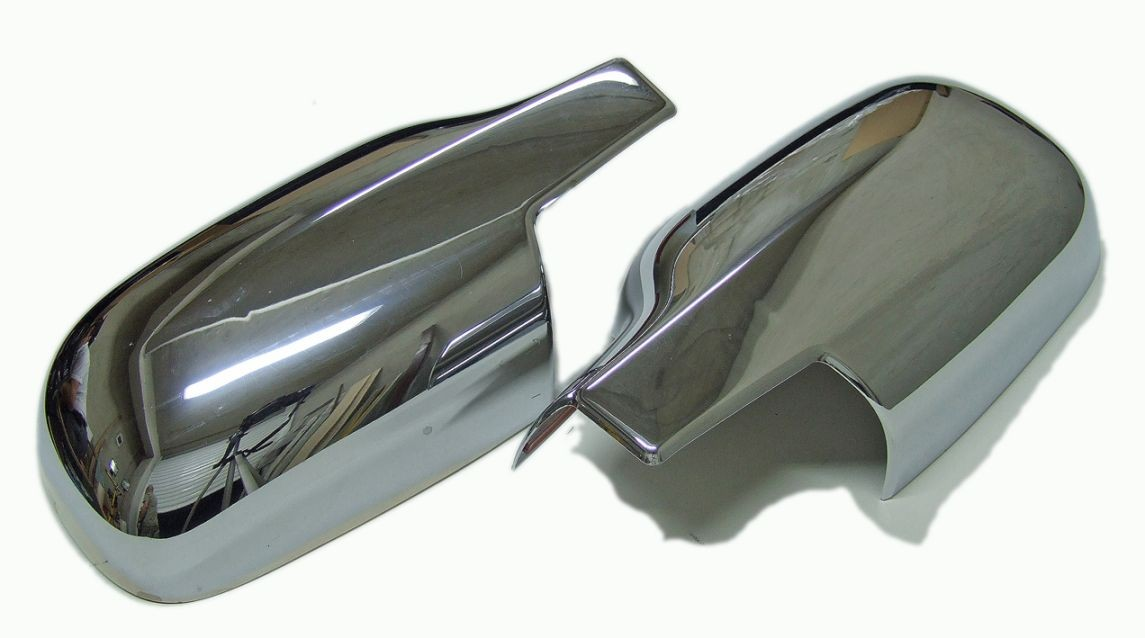 chrome mirror covers for renault megane 2 scenic 2003 2009 3111 new ebay. Black Bedroom Furniture Sets. Home Design Ideas