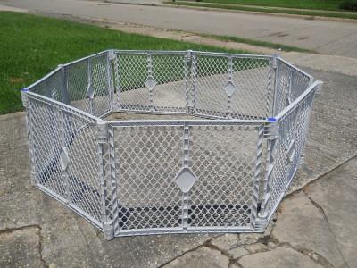 Large Foldable 8 Panel Play Pen Yard Child Baby Gate Pet Dog
