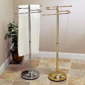 Floor Standing S Style Towel Holder Chrome Bath Towel
