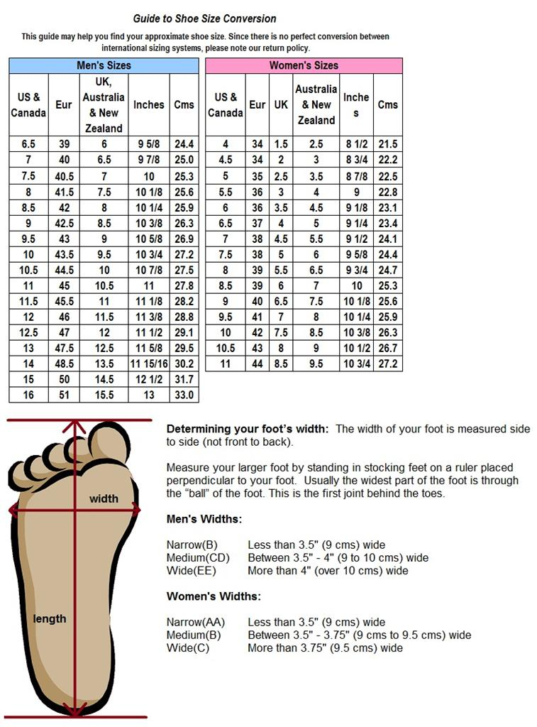 D And M Shoe Size