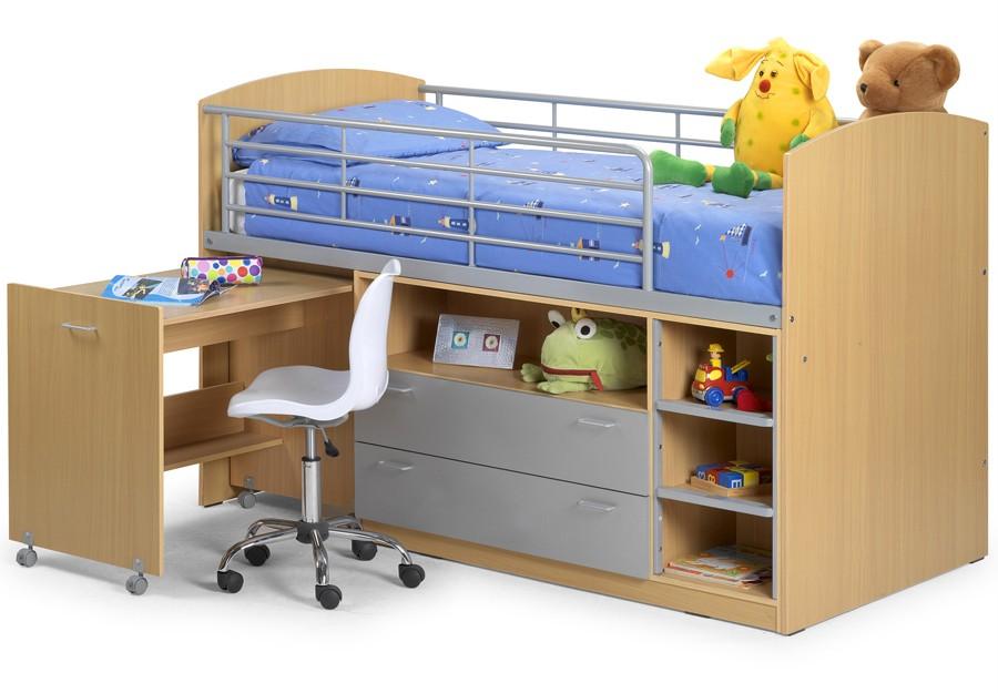 Sleep Station Single Bed Frame High Mid Sleeper Cabin Bed