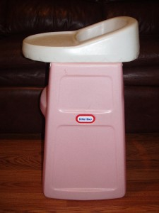 Little Tikes Tykes Pink High Chair Baby Doll Child Size