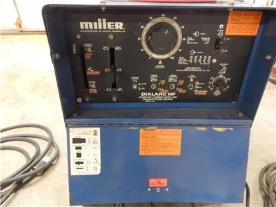 miller dialarc hf tig/ stick welder with foot pedal tig and stick welding  leads |