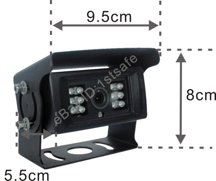 """7/"""" WIRED IR DIGITAL REAR VIEW BACKUP REVERSE CAMERA SYSTEM FOR COMBINE HARVESTER"""