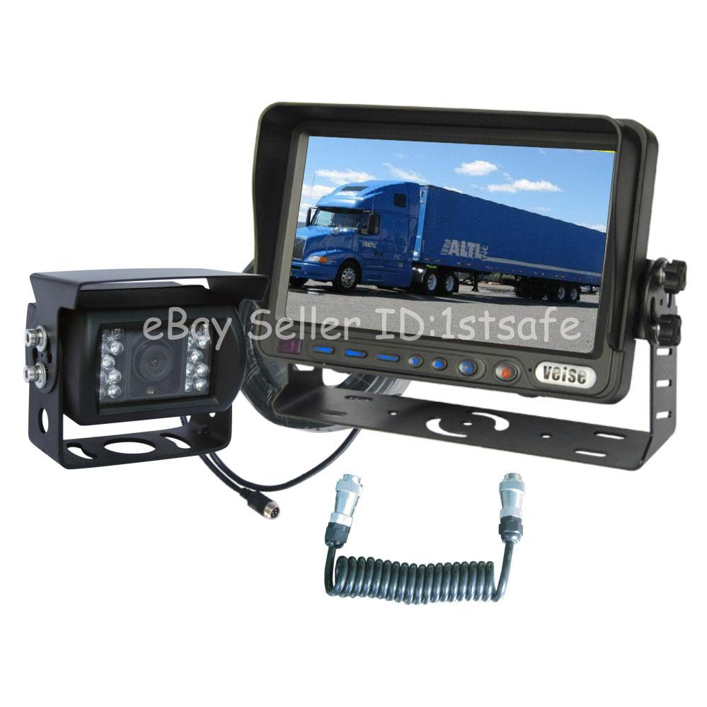 """Horse Trailer Rear View Back Up Reverse Camera RV System 7"""" LCD"""