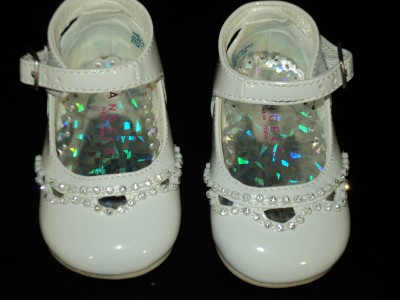 Baby Girl Leather Christening Baptism Shoes Size 6