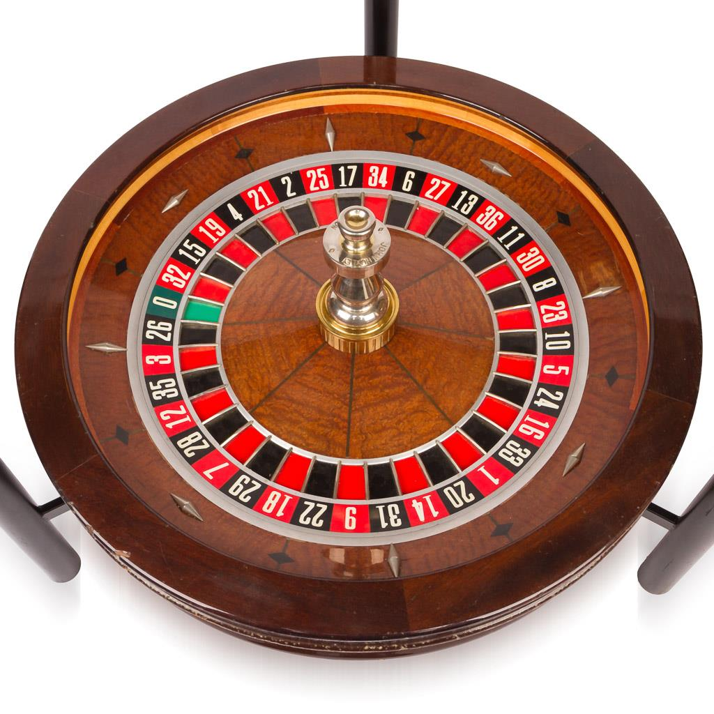 stylish 20thc novelty john huxley roulette wheel coffee. Black Bedroom Furniture Sets. Home Design Ideas