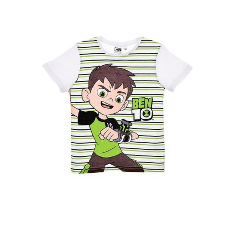 Ragazzi-Ben-10-Cartoon-Network-estate-manica-corta-T-Shirt-T-shirt-Girocollo-Eta-3-4-6-8Y